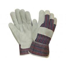 Перчатки комбинированные х/б со спилком, серый