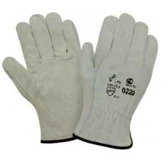 Перчатки спилковые пятипалые, серый