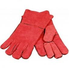 Краги ТРЕК спилковые с подкладкой, красный